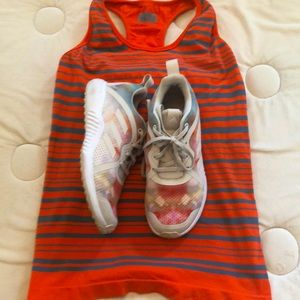 🧡Adidas/Athleta Bundle💙Shoe 7.5/Tank Sm